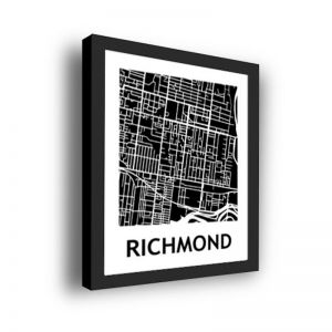 Framed 3D Street Map | Richmond Suburb Map Print