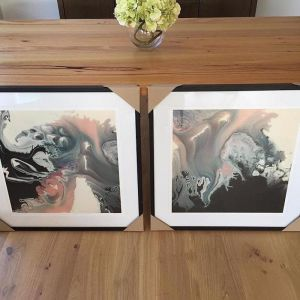 Framed Limited Edition Gem Stone Prints | Set of 2