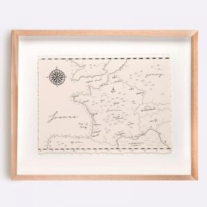 France Map Illustration | Print by Adrianne Design