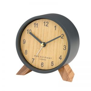 Frankie Open Dial Silent Alarm Clock - Charcoal