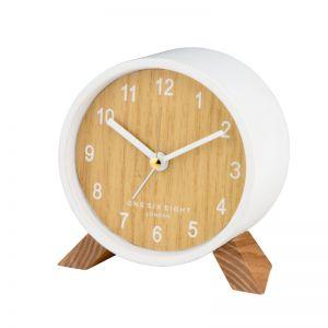 Frankie Open Dial Silent Alarm Clock - White