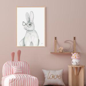 Frankie the Fancy Bunny Rabbit by Pick a Pear | Framed Wall Art