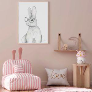 Frankie the Fancy Bunny Rabbit Wall Art Print by Pick a Pear | Unframed