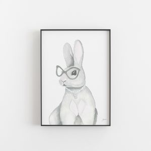 Frankie the Fancy Bunny Rabbit Wall Art Print | by Pick a Pear | Unframed