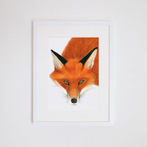 Frankie the Fox Giclee Print | by For Me By Dee