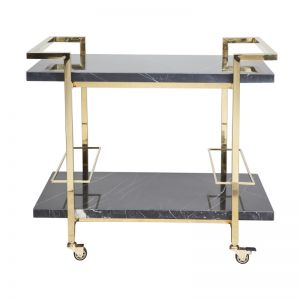 Franklin Drinks Trolley | Black/Gold
