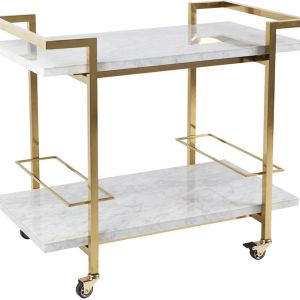 Franklin Drinks Trolley | White/Gold