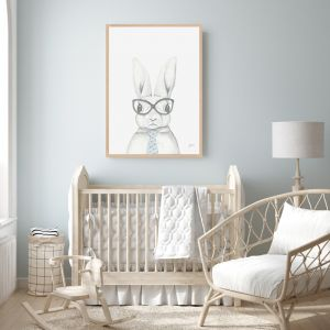 Franklin the Boss Bunny Rabbit by Pick a Pear | Framed Wall Art