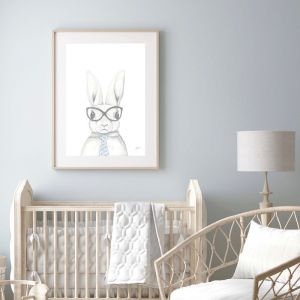 Franklin the Boss Bunny Rabbit Wall Art Print by Pick a Pear | Unframed
