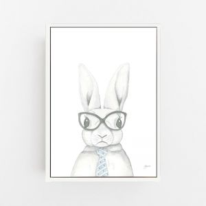 Franklin the Fancy Bunny Rabbit Wall Art Print | by Pick a Pear | Canvas