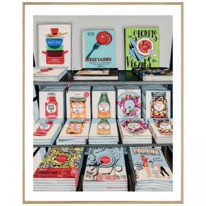 French Cookbooks | P7014 MultiColoured | Framed Print | Colour Clash Studio