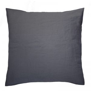 French Flax Linen European Pillowcase | Charcoal