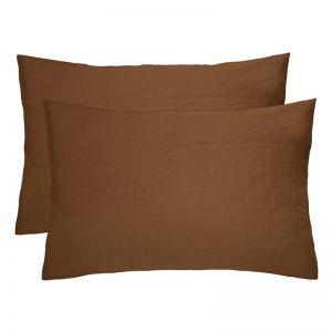 French Flax Linen Pillowcase Pair | Hazel