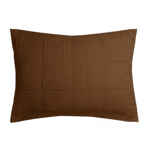 French Flax Linen Quilted Pillowcase | Hazel