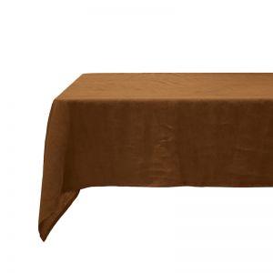 French Flax Linen Tablecloth 150x275cm Hazel