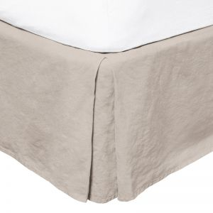 French Flax Linen Valance | Pebble