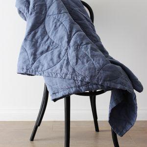 French Linen Bespoke Blanket by Bedtonic | Indigo