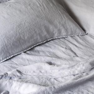 French Linen Fog | Full Sheet Set by Bedtonic