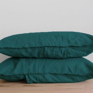 French Linen Pillowslip Pairs by Bedtonic | Emerald Green