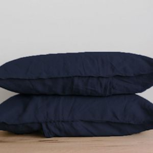 French Linen Pillowslip Pairs by Bedtonic | Oxford Blue