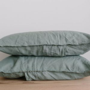 French Linen Pillowslip Pairs by Bedtonic | Sage