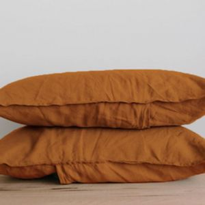 French Linen Pillowslip Pairs by Bedtonic | Terracotta