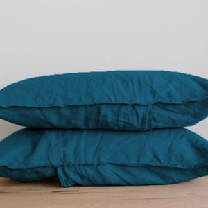 French Linen Pillowslip Pairs by Bedtonic | Venice Blue