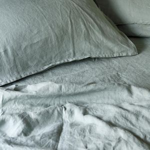 French Linen Sage | Full Sheet Set by Bedtonic