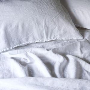 French Linen Winter White | Full Sheet Set by Bedtonic