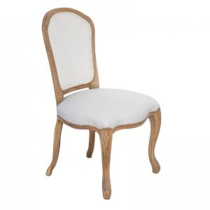 French Provincial Linen Upholstered Chairs