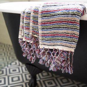 Fresh Stripe Bath Mat   by Loom Towels