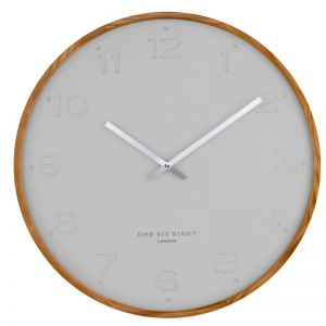 Freya  -  35cm Cool Grey Silent Wall Clock