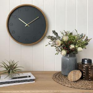 Freya  -  50cm Charcoal Wall Clock