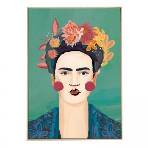 Frida Blue   Boxed Canvas Print