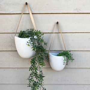 Friday Hanging Planter White Med 14cm