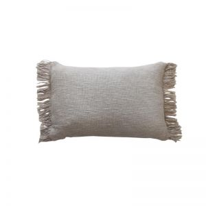 Fringe Cushion Cover    Taupe   by Raw Decor