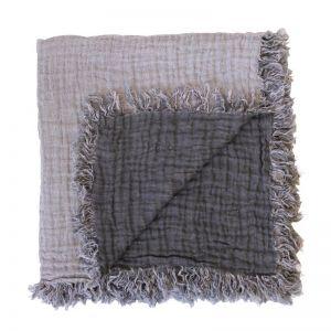 Fringed Linen Travel Wrap/Throw