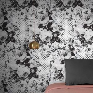 Full Bloom Wallpaper - Teal