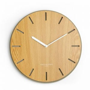 Gabriel Silent Wall Clock | 35cm | Concrete and Wood
