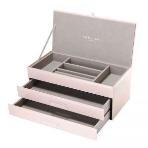 Gabriella Jewellery Box | Glass | Blush | Large | One Six Eight London