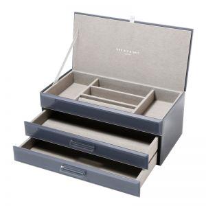 Gabriella Jewellery Box | Glass | Grey | Large | One Six Eight London