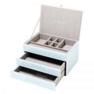 Gabriella Jewellery Box | Glass | Mint | Medium | One Six Eight London