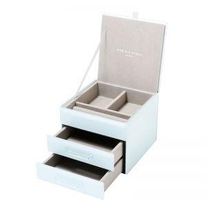 Gabriella Jewellery Box | Glass | Mint | Small | One Six Eight London