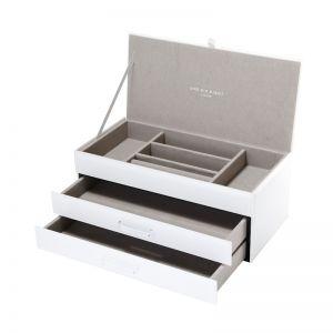 Gabriella Jewellery Box | Glass | White | Large | One Six Eight London