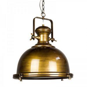 Gaia Industrial Pendant Light | Antique Brass