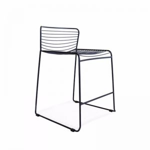 Gallery Wire Stackable Counter Stool Black | Set of 2 | by Black Mango