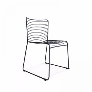 Gallery Wire Stackable Dining Chair Black | Set of 2 | by Black Mango