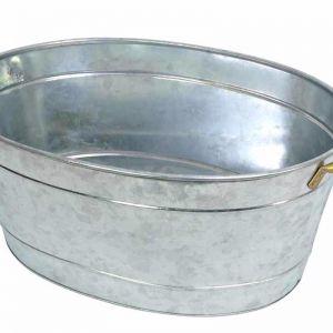 Galvanized Tub | Silver