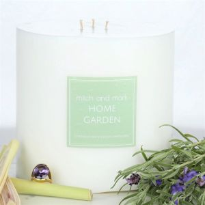 GARDEN essential oil candle Pillar | Limited Edition | Personally signed by Mitch and Mark