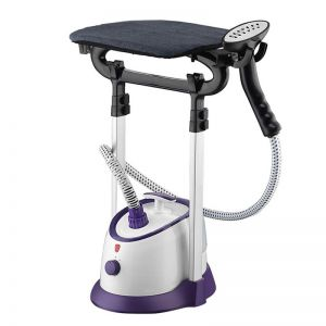 Garment Steamer Vertical Twin Pole Clothes 1700ml 1800w Professional Steaming Kit Purple